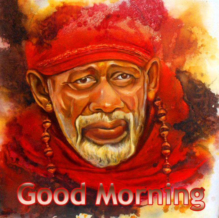 Best-Sai-Baba-Painting-with-Good-Morning-Wish