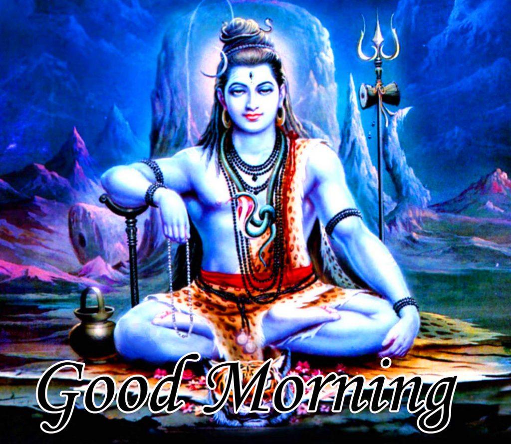Blue God Mahadev Good Morning Image