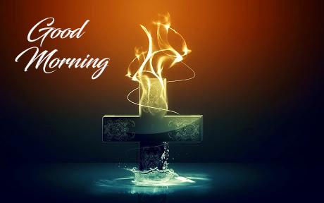 Christian Cross Good Morning Wallpaper