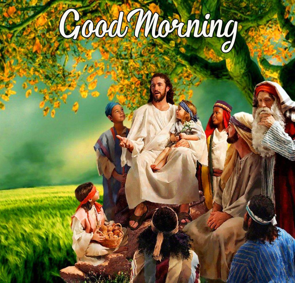 Good Morning Jesus HD Wallpaper