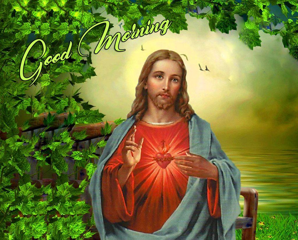 Lord Sacred Jesus Good Morning Image