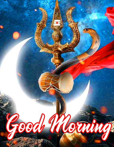 Mahadev Trishul HD Good Morning Picture